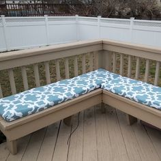 Easy, No Sew, And Budget Friendly Bench Cushions For Patio. Just Use