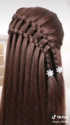 Easy Hairstyles For Long Hair, Braids For Long Hair, Ponytail Hairstyles, Beach Hairstyles, Hairstyles Haircuts, Wavy Hair, Wedding Hairstyles, Hair Up Styles, Long Hair Video