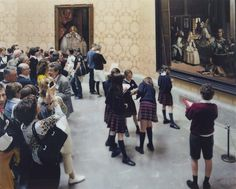Photography Writ Large: The Monumental Art Of Thomas Struth : NPR Thomas Struth is known for large photographs of people looking at paintings, sculptures and art in museums. In Museo del Prado 7, Madrid 2005, a school group sketches Diego Velazquez's Las Meninas.