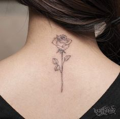 Blackwork Rose Tattoo by River