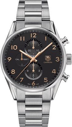 TAG Heuer Watch Carrera #bezel-fixed #bracelet-strap-steel #brand-tag-heuer #case-material-steel #case-width-43mm #chronograph-yes #date-yes #delivery-timescale-4-6-days #dial-colour-black #gender-mens #luxury #movement-automatic #official-stockist-for-tag-heuer-watches #packaging-tag-heuer-watch-packaging #style-dress #subcat-carrera #supplier-model-no-car2014-ba0799 #warranty-tag-heuer-official-2-year-guarantee #water-resistant-100m