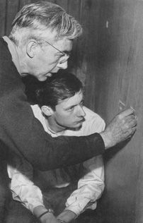 """Robert Bresson directing in """"A Man Escaped"""" --- http://heidisaman.tumblr.com/day/2014/01/03"""