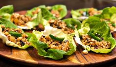 I am really ready to wrap up this week---in a bow and a Spicy Chicken Lettuce Wrap. In less than 30 minutes (which I never say), you will have the tastiest, healthiest weekend dinner on record. Our daughter was eating out of the pan and we sat and grazed, fighting for the last wrap, enj