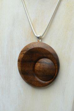 Turned pendant, made from Koa wood