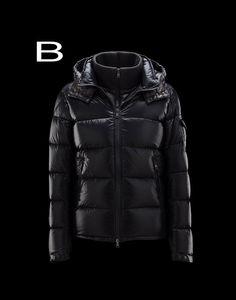 Moncler Zin Men Inset Removable Zip-Front Bib Shiny Jacket black For Sale