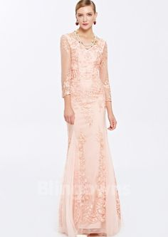Embroidery Mermaid Floor Length Tulle Zipper V-neck V-back Sleeves Homecoming / Prom Dresses Pretty Dresses For Women, Summer Dresses For Women, Evening Dresses, Prom Dresses, Mermaid Dresses, Floral Gown, Beaded Gown, A Line Gown, Gowns Online