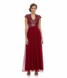 4c9d4d2d3402 JS Collections Deep VNeck BeadedBodice Gown  Dillards Dress For Success