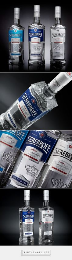 Serebroff Vodka - Packaging of the World - Creative Package Design Gallery - http://www.packagingoftheworld.com/2016/03/serebroff-vodka.html