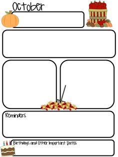 March newsletter template | Teaching Ideas | Pinterest ...