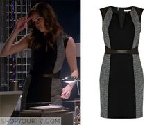 The Flash: Season 1 episode 12 Caitlin's gray and black dress