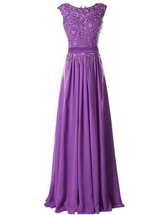 Long Evening Dresses,Purple Evening Dresses,Evening Dresses Chiffon,Applique Party Gowns,Handmade Beads Evening Gowns,Cheap Evening Dresses● Condition:New Without tags●:Brand: Handmade● Materi..