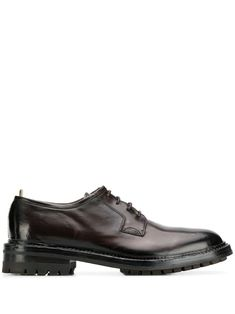 Officine Creative lace up derby shoes - Brown Dark Brown Leather, Leather And Lace, Officine Creative, Derby Shoes, Brand You, Classic Style, Oxford Shoes, Women Wear, Lace Up