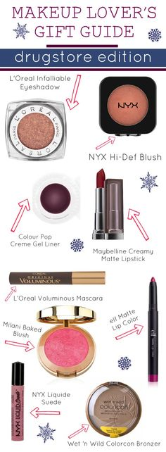 A gift guide for the makeup lover: Drugstore edition. Not sure what to get your beauty-loving friend? I've laid out several amazing and affordable options to consider when shopping for makeup! // Life with Rosie