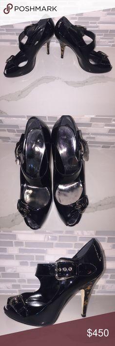 Giuseppe Zanotti Design Black Platform Patent Black Leather Sandol Giuseppe Zanotti Shoes Sandals