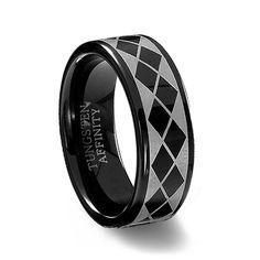 tungsten carbide men's wedding ring