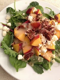 PEACH, PECAN & FETA SUMMER SALAD
