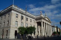 The General Post Office on O'Connell Street in Dublin, Ireland.  I know it's silly to look at a post office, and you don't have to go in... but the GPO is a cool building and a big landmark. @Carly Keiser #placescarlyneedstosee