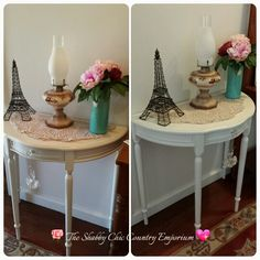 Demi Lune table I painted.
