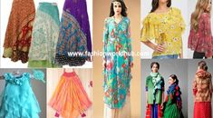 How to use old chiffon sarees in 8 fantastic ways Anarkali, Lehenga, Sarees, Long Gown Design, Chiffon Saree, Dress Making, Wedding Planning, Kimono Top, Cover Up