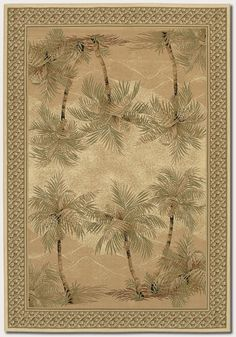Couristan's Everest Collection: Palm Tree Desert Sand #arearug #homedecor #design #style #Couristan