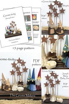 Handmade Market, Craft Sale, Pdf Sewing Patterns, Gnomes, Nativity, Arts And Crafts, Holiday Decor, The Nativity, Art And Craft