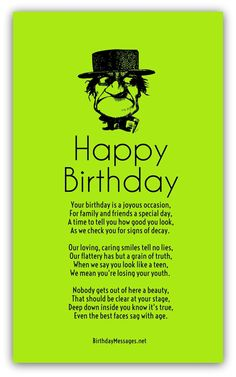 Best 20 Birthday Poems for Him Birthday Poem For Friend, Funny Happy Birthday Poems, Romantic Birthday Messages, Funny Birthday Message, Birthday Images Funny, Birthday Verses For Cards, Funny Poems, Birthday Card Sayings, Funny Birthday Cards