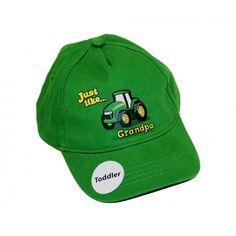 John Deere Toddler Just Like Grandpa Cap John Deere Hats, Hats For Women, Baseball Cap, Cowboy Hats, Beanie, Style, Fashion, Baseball Hat, Swag