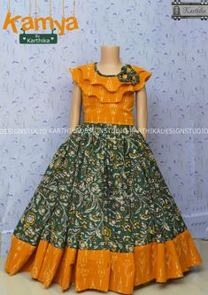 Girls Frock Design, Long Dress Design, Baby Dress Design, Kids Frocks Design, Baby Frocks Designs, Kids Gown Design, Kids Party Wear Dresses, Kids Dress Wear, Little Girl Dresses