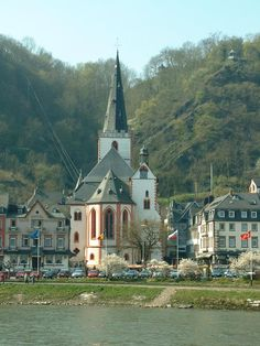 St. Goar on the Rhine River, Germany. Charming town, beautiful countryside!