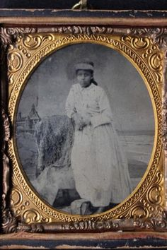 Antique 1/6 Sixth Plate Tintype Photo of Young African-American Black Woman in Collectibles, Photographic Images, Vintage & Antique (Pre-1940), Tintypes | eBay