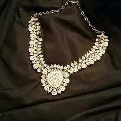 Rhinestone statement necklace Beautiful, gold and rhinestone necklace Affliction Accessories