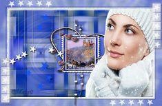 téli táj szánnal Hoop Earrings, Jewelry, Jewlery, Bijoux, Schmuck, Jewerly, Jewels, Jewelery, Fine Jewelry
