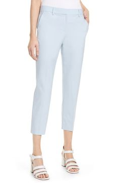 THEORY TREECA 2 GOOD WOOL CROP SUIT PANTS. #theory #cloth