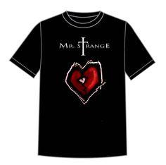 Image of Mr. Strange Heart T-Shirt Gothic, Heart, Mens Tops, T Shirt, Image, Fashion, Supreme T Shirt, Moda, Goth