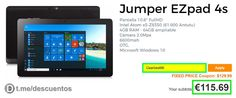 Tablet 10.6 Jumper Ezpad 4S de 4GB por sólo 115 - http://ift.tt/2rCR4E6
