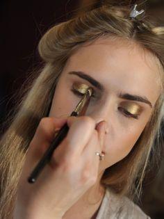 Makeup Inspiration / Glitter + Metallics Fall-Winter trends 2014