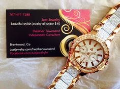 Minute By Minute watch! Completely stunning! By Just Jewelry..... Come check out all the New Spring/Summer watches www.justjewelry.com/heathertownsend