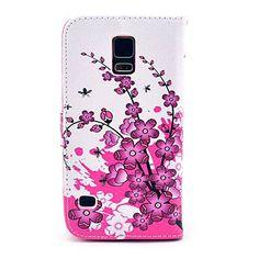 Spicebush kukkakuvio PU Leather Full Body Case-korttipaikka Samsung Galaxy S5 I9600 – EUR € 6.99