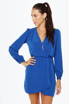 This royal blue number is a must in every closet-Accessorize with gold jewelry! Get 7% Cash Back http://www.studentrate.com/itp/get-itp-student-deals/lulu-s-Student-Discount--/0