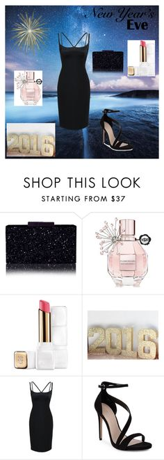 """New Year's Eve Party"" by bellaclairecassedemont ❤ liked on Polyvore featuring Mode, Viktor & Rolf, Guerlain, Marc Jacobs und Carvela"