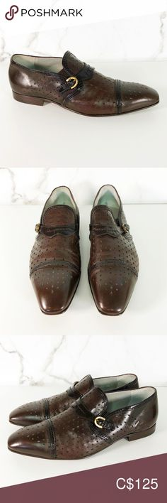 Cesare Paciotti Perfoated Leather Loafers Brand: Cesare Paciotti Size: (Narrow) Color: Brown Condition: Excellent Pre-owned SKU: Tags Slide On Engraved Buckle Plain Toe Dress Shoes Cesare Paciotti Shoes Loafers & Slip-Ons Plus Fashion, Fashion Tips, Fashion Design, Fashion Trends, Leather Loafers, Loafer Shoes, Oxford Shoes, Dress Shoes, Slip On