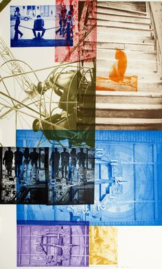 Robert Rauschenberg - I love the cat in this piece. And there's a cute butt crack in the top left corner. #naughtyberg