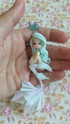 Mermaid in fimo, polymer clay Polymer Clay Mermaid, Polymer Clay Kunst, Polymer Clay Fairy, Polymer Clay Figures, Cute Polymer Clay, Cute Clay, Polymer Clay Dolls, Polymer Clay Charms, Polymer Clay Projects