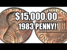 There's A Penny (A Rare 1983 Copper Penny!) That You Could Find In Your Change Today - See How Much It And Other Rare Copper Pennies Are Worth - currency Valuable Pennies, Rare Pennies, Valuable Coins, Penny Values, Rare Coins Worth Money, Coin Worth, Copper Penny, Error Coins, Coin Values