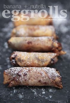 Nutella Banana Egg Roll Recipe Easy!