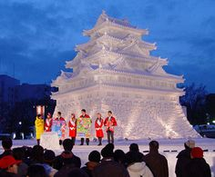Ice Sculpture at Sapporo Snow Festival in Japan