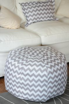 I have this Amy Butler pouf pattern. Some suggested putting in a zipper and making an inner pouf...