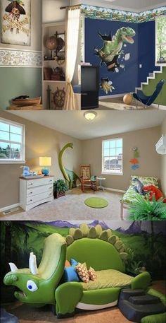Dinosaur Bedroom Themes For Kids Dinosaur Kids Room, Boys Dinosaur Bedroom, Dinosaur Room Decor, Dinosaur Bedding, Boys Bedroom Decor, Bedroom Themes, Boy Bedrooms, Bedroom Designs, Master Bedroom