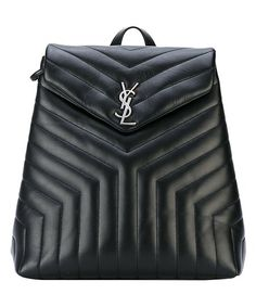 YSL Black Quilted Leather Backpack | zulily