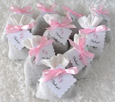 This listing is for 12 French Lavender Sachet Party Favors. These party favors are perfect for baby showers! You can choose pink or blue. The tags will have baby footprints and tied with a matching ribbon.These are priced per Adjust the quant. Baby Shower Favors Girl, Baby Shower Princess, Baby Shower Games, Baby Shower Parties, Baby Showers, Shower Baby, Girl Shower, Tortas Baby Shower Niña, Butterfly Baby Shower